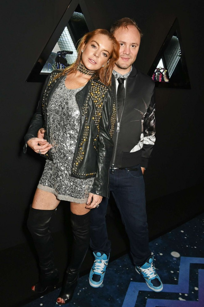 Lindsay Lohan: Nicholas Kirkwood 10 Year Collection Launch -01