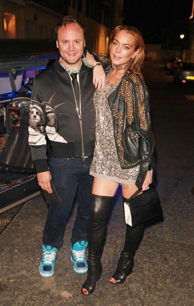 Lindsay Lohan: Nicholas Kirkwood 10 Year Collection Launch -03