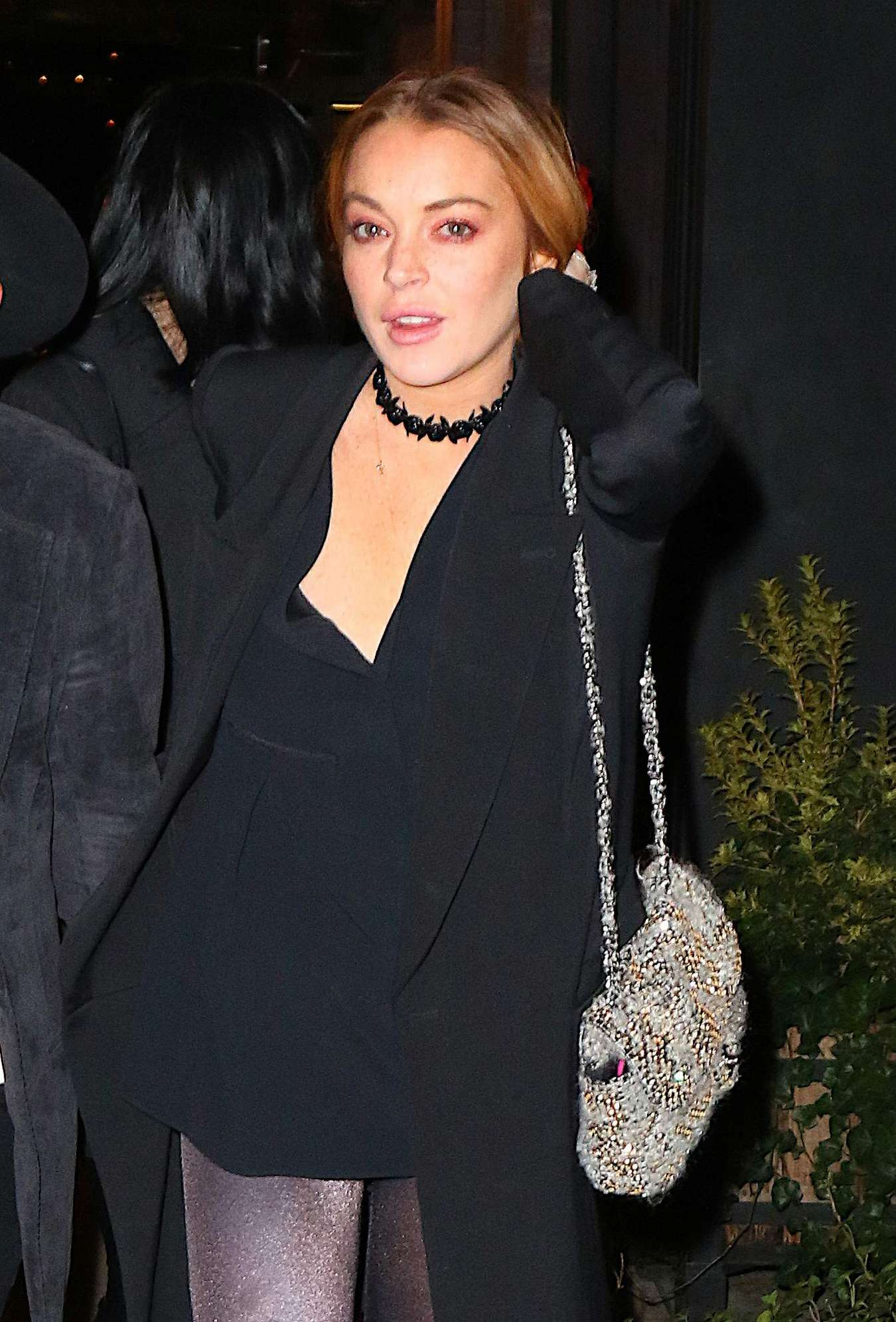 Lindsay Lohan - Night out in New York City