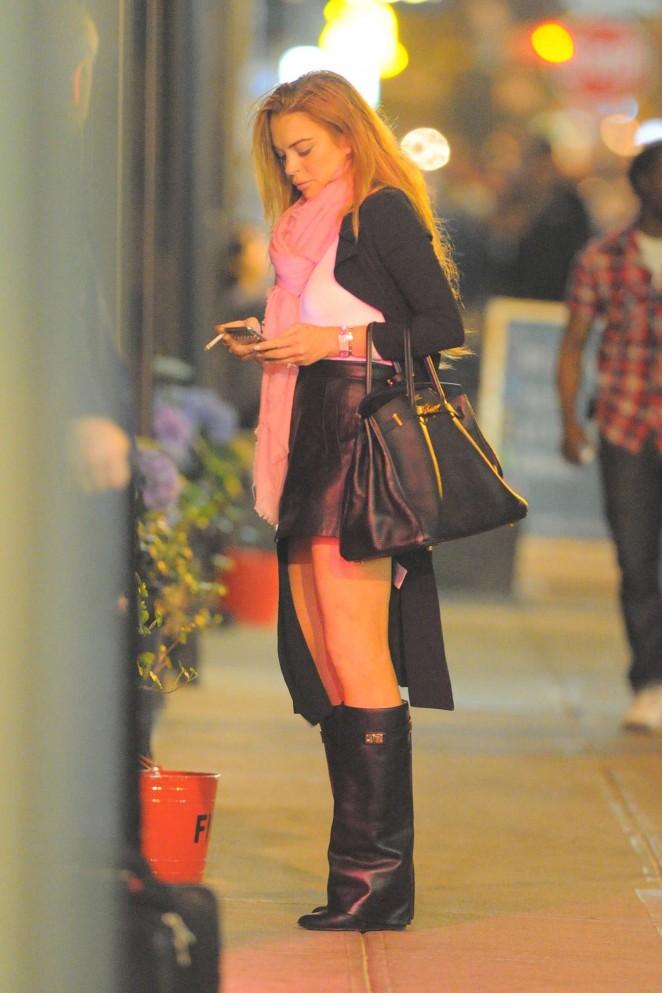 Lindsay Lohan Mini Skirt 15