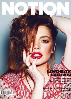 Lindsay Lohan - Notion Magazine 2015