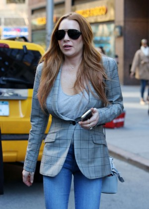 Lindsay Lohan on upper east side in New York