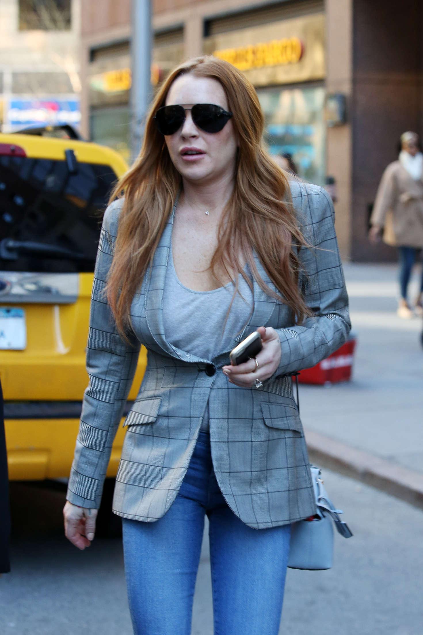Lindsay Lohan on upper east side in New York