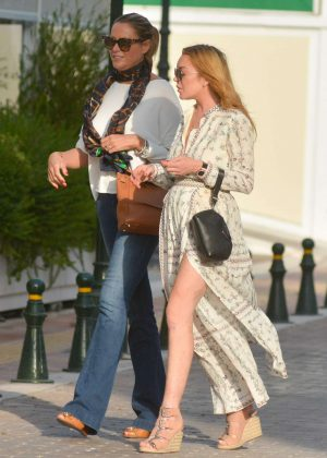 Lindsay Lohan on Vacations in Athens