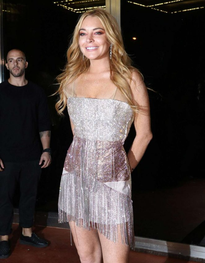 Lindsay Lohan opening of her new nightclub called 'Lohan' in Athens