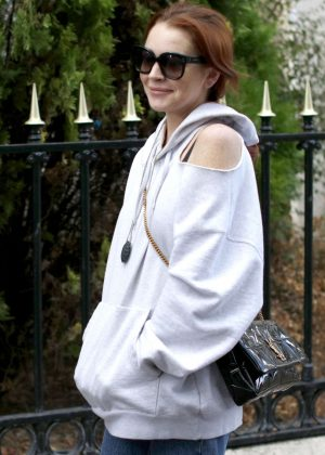 Lindsay Lohan - Out and about in Paris