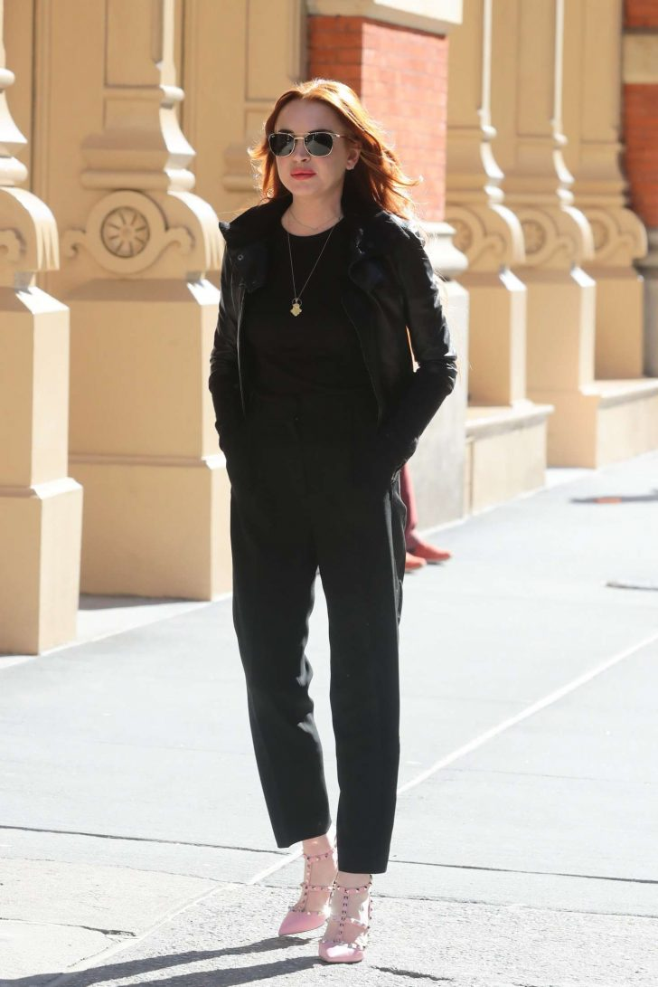 Lindsay Lohan: Out in New York City -01