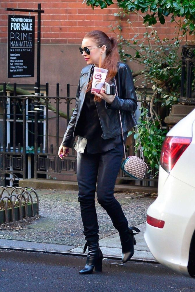 Lindsay Lohan: Out in New York City -02