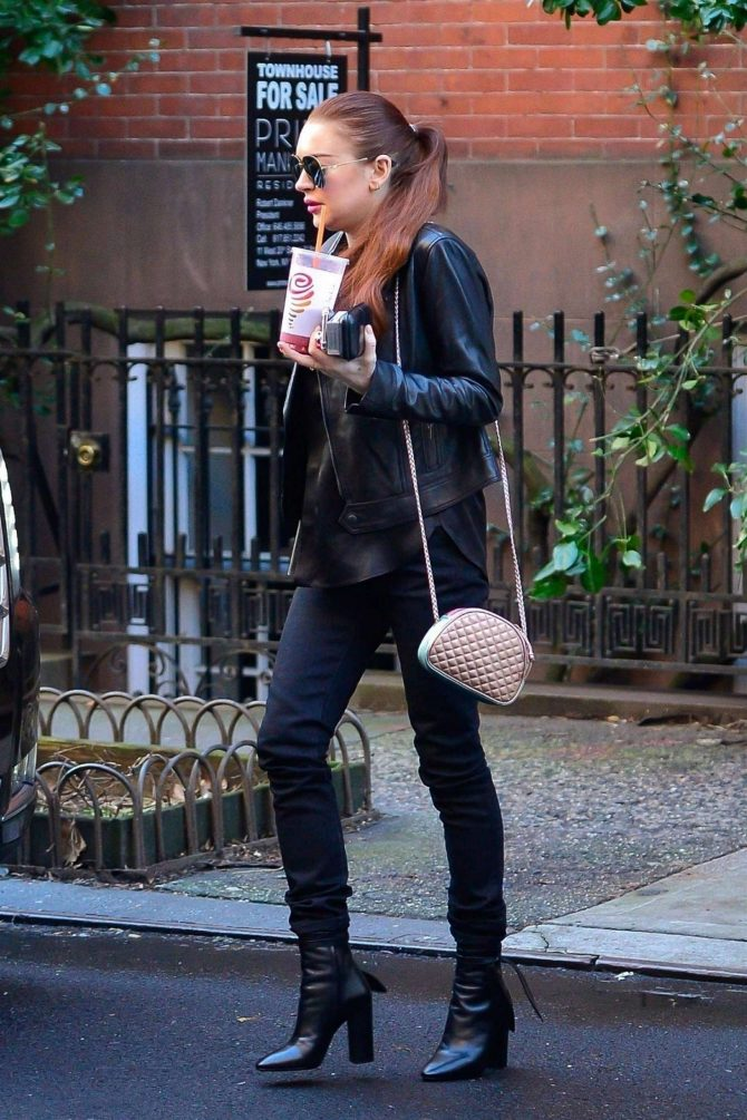 Lindsay Lohan: Out in New York City -06