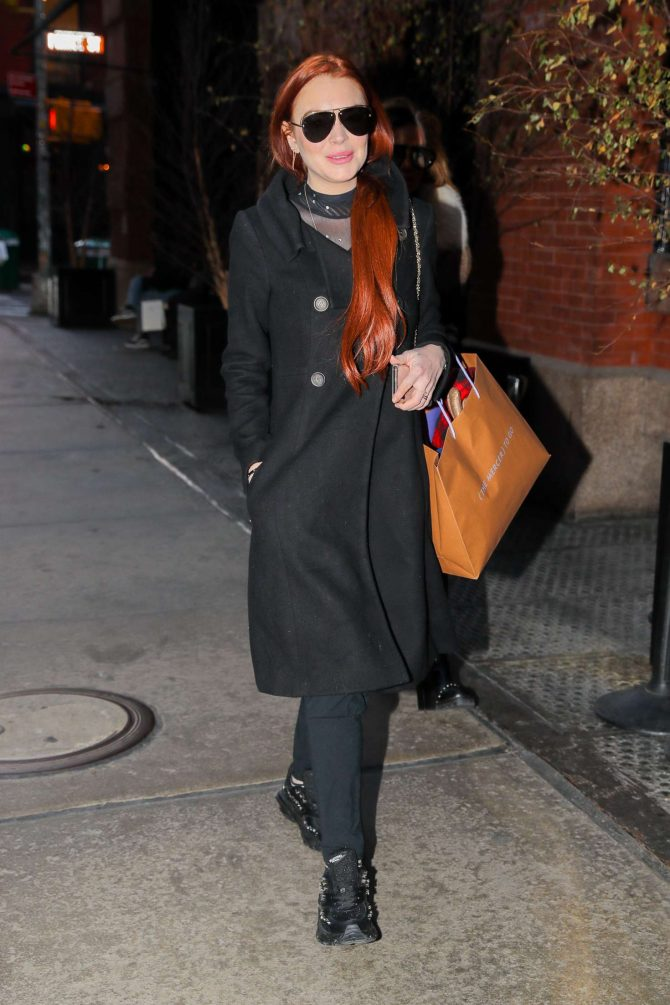 Lindsay Lohan - Out in New York