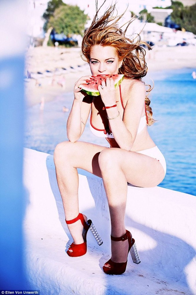 Lindsay Lohan - photoshoot by by Ellen Von Unwerth for Notofu Mgazine (Winter 2015-2016)