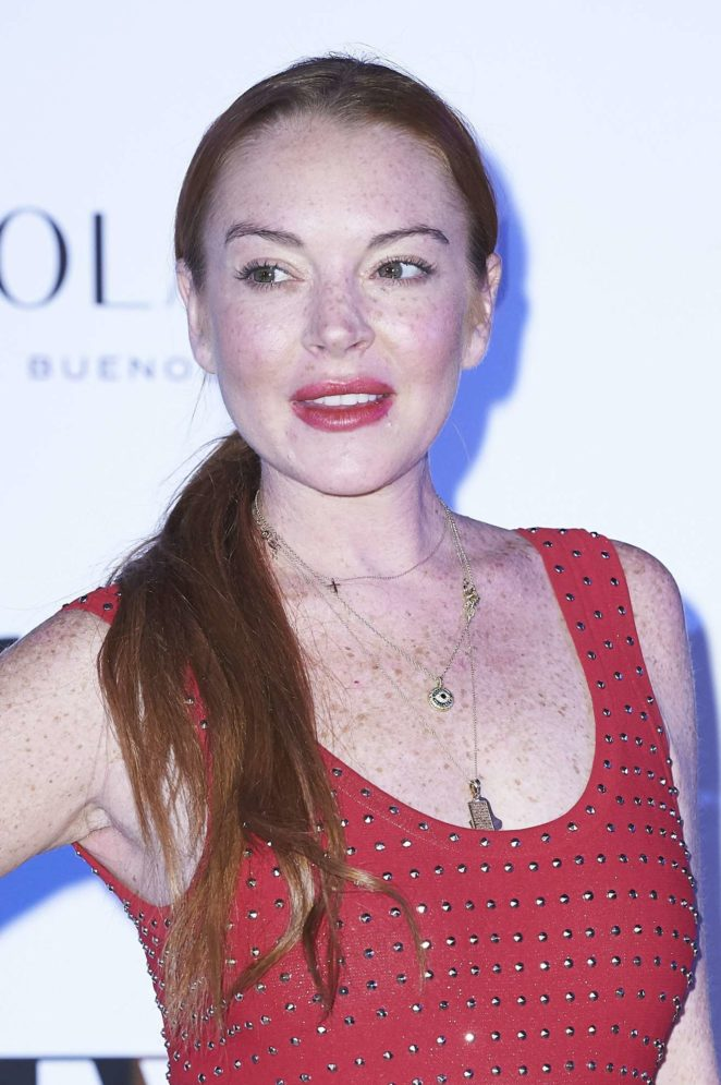 Lindsay Lohan - Presentation Jorge Vazquez Spring-Summer 2018 collection Madrid