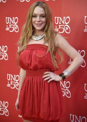 Lindsay Lohan - 'Uno de 50' Jewelry Brand Photocall in Madrid