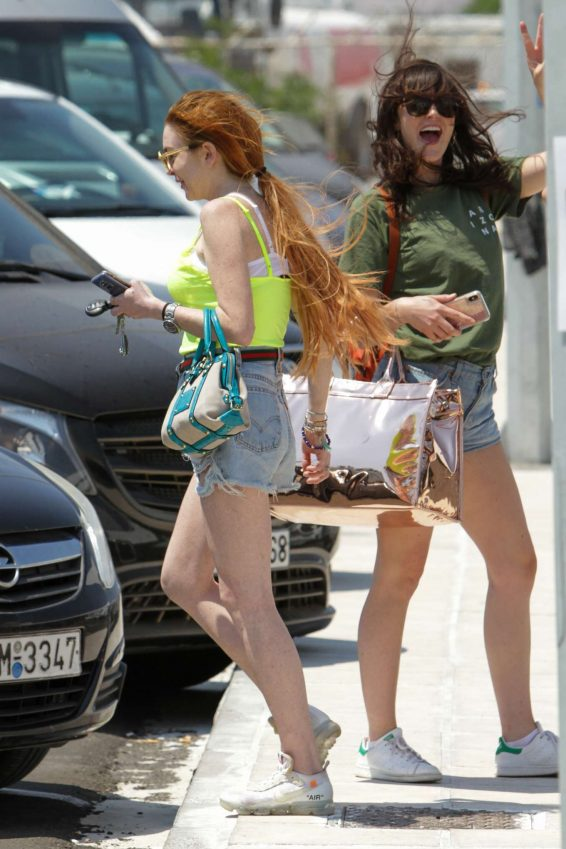 Lindsay Lohan - With a friend on Mykonos Island