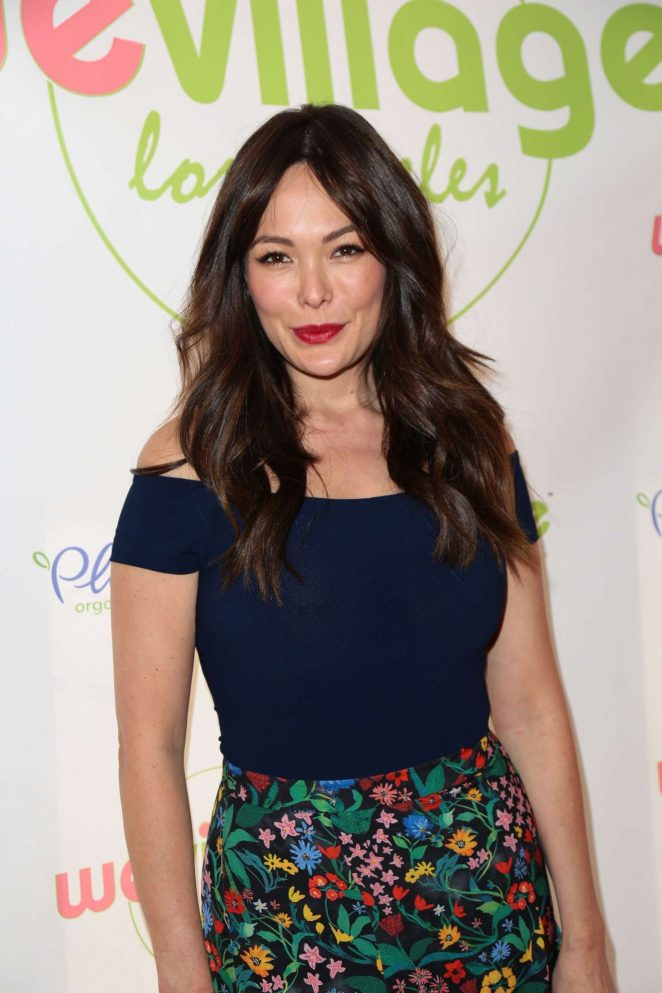 Lindsay Price at the grand opening party for WeVillage in LA