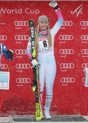 Lindsey Vonn - Alpine Skiing at 2017 FIS World Cup in France