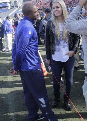 Lindsey Vonn and Kenan Smith at San Francisco 49ers' Los Angeles Rams Game