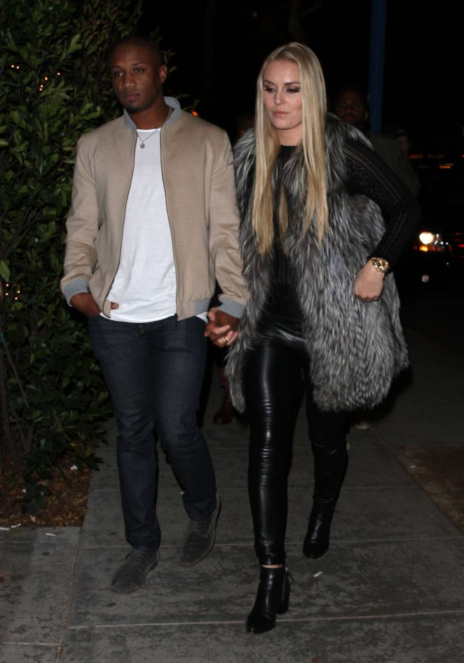 Lindsey Vonn and Kenan Smith head to the Delilah club in LA