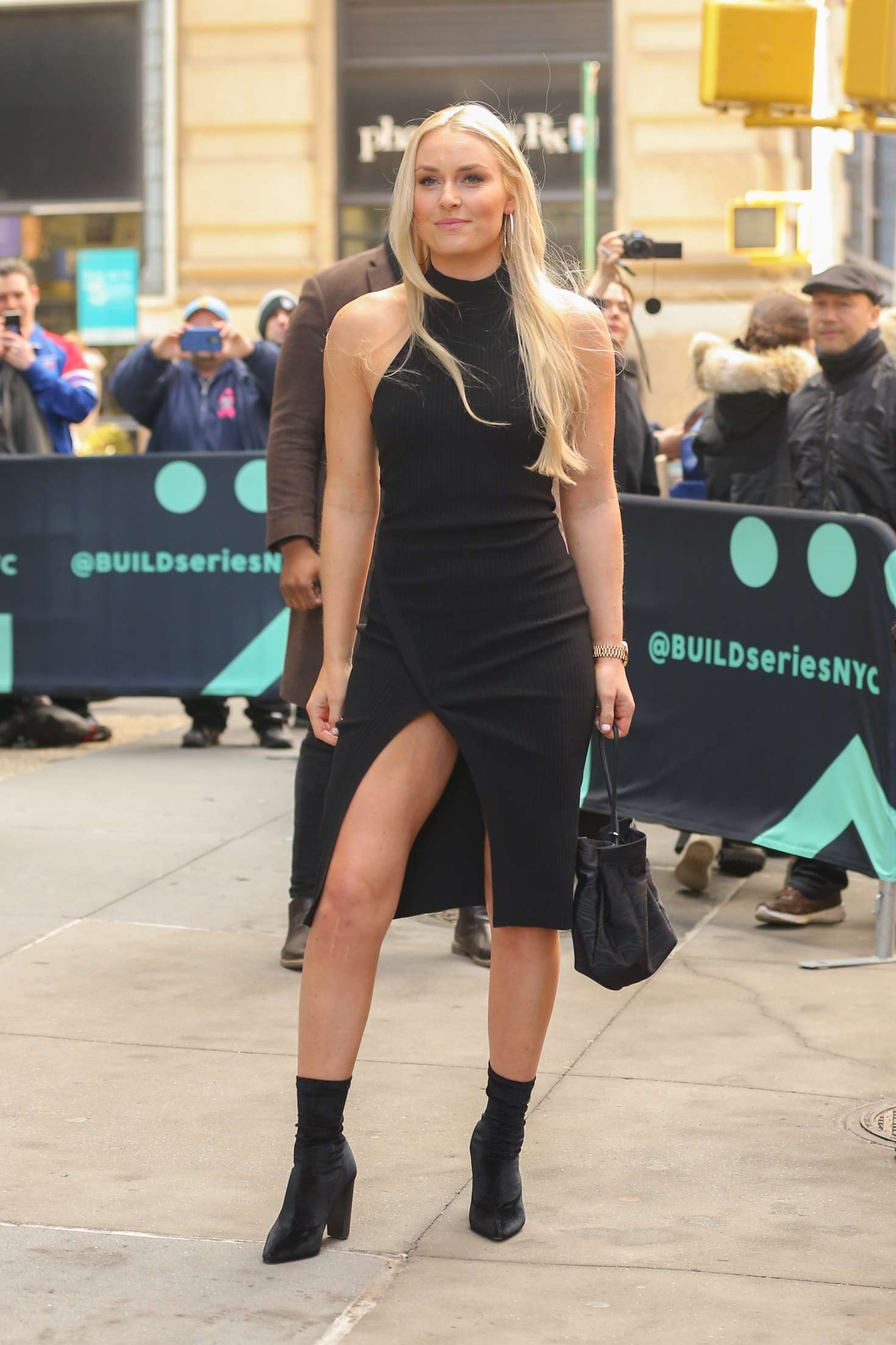 Lindsey Vonn - Arriving at AOL Build Series in New York