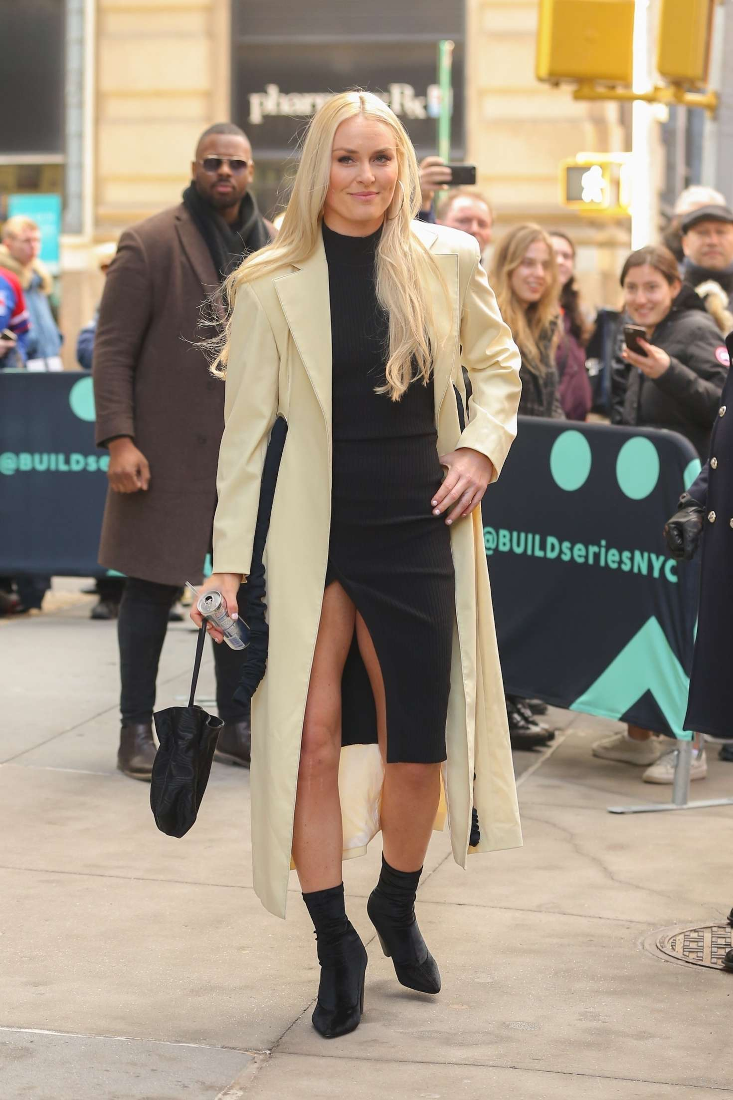 Lindsey Vonn 2019 : Lindsey Vonn: Arriving at AOL Build Series -05