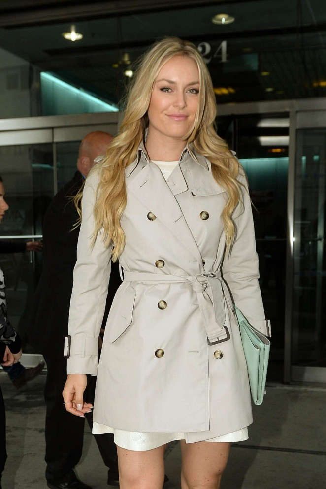 Lindsey Vonn - Arriving at CBS Studios
