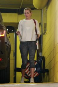 Lindsey Vonn at a private gym in Beverly Hills
