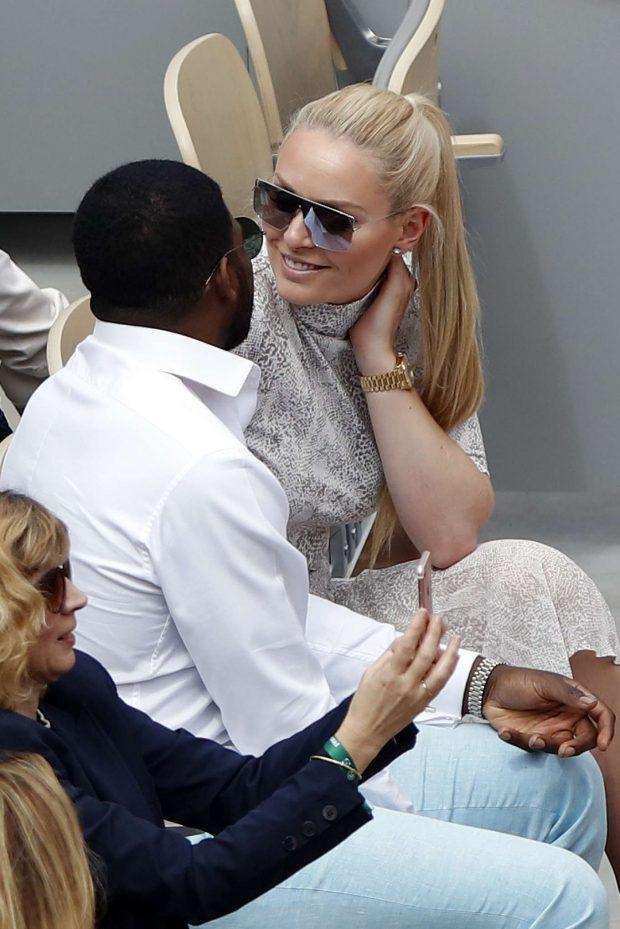 Lindsey Vonn at the Roland Garros in Paris