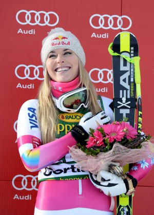 Lindsey Vonn - Audi FIS Alpine Ski World Cup Women's Super-G in Italy