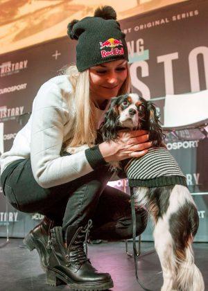 Lindsey Vonn - Eurosport Press Conference regarding TV Series 'Chasing History'in St. Moritz