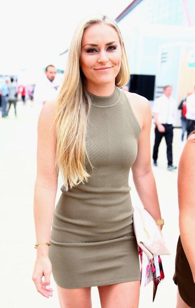Lindsey Vonn - Formula One Grand Prix of Great Britain in Northampton