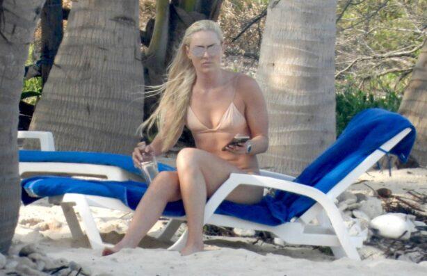 Lindsey Vonn - In a bikini at the beach in Tulum