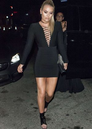 Lindsey Vonn in Black Short Dress at Nice Guy in LA