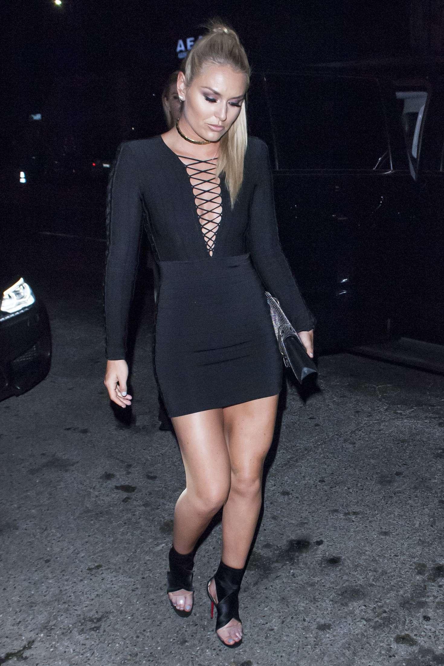 Lindsey Vonn In Black Short Dress 02 Gotceleb