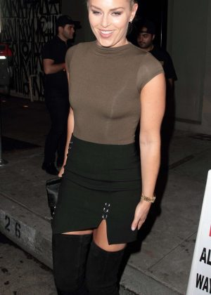 Lindsey Vonn in Mini Skirt at Craig's in Hollywood