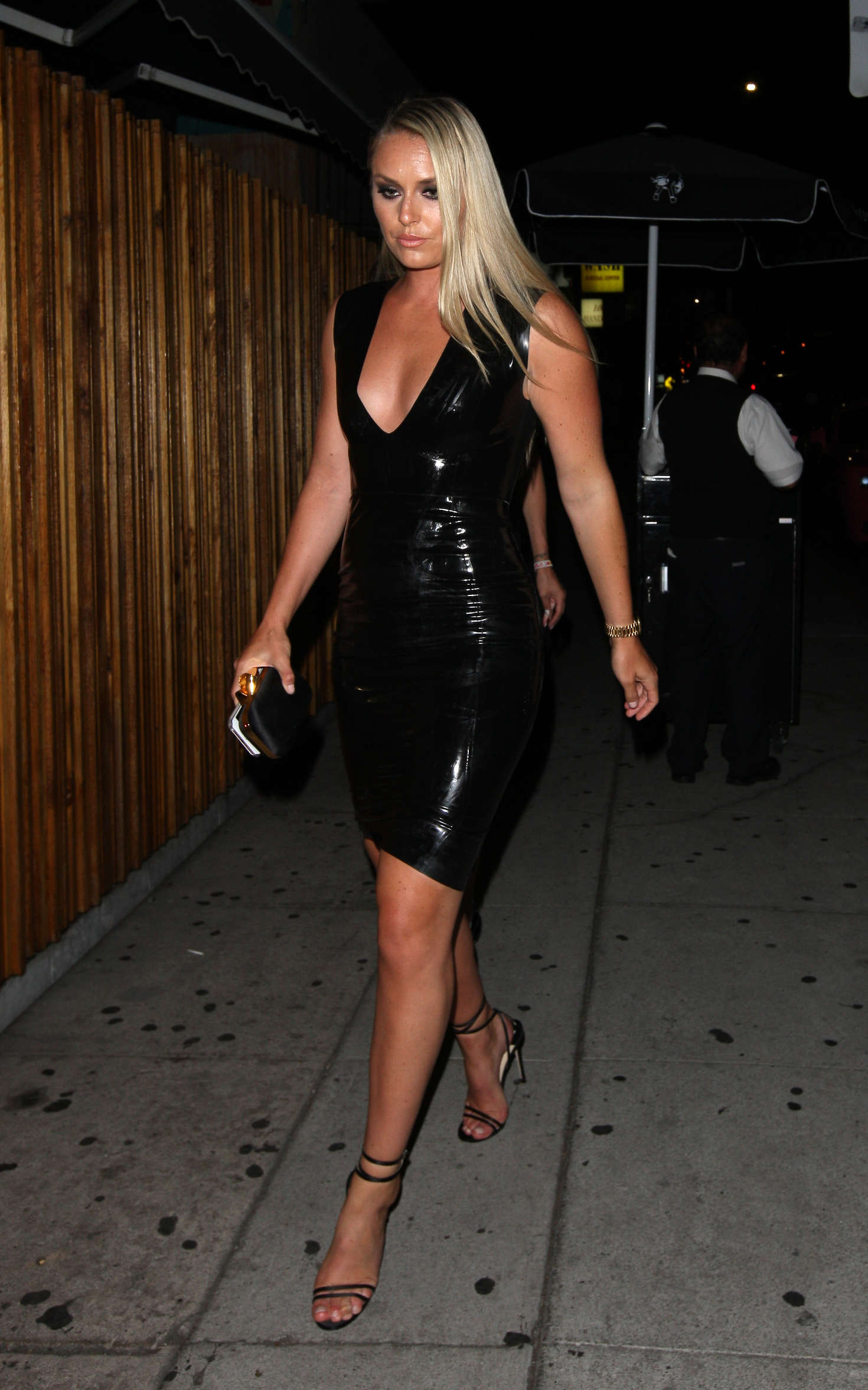 Lindsey Vonn In Tight Leather Dress 07 Gotceleb