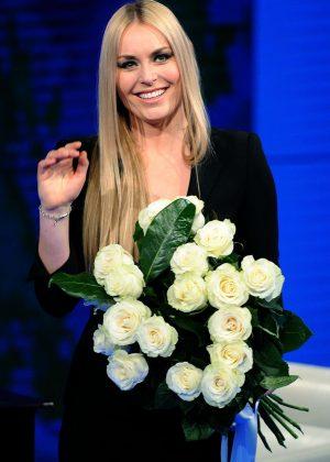 Lindsey Vonn - Italian TV show 'Che tempo che fa' at RAI studios in Milan
