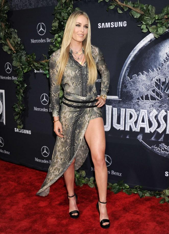 Lindsey Vonn – 'Jurassic World' Premiere in Hollywood