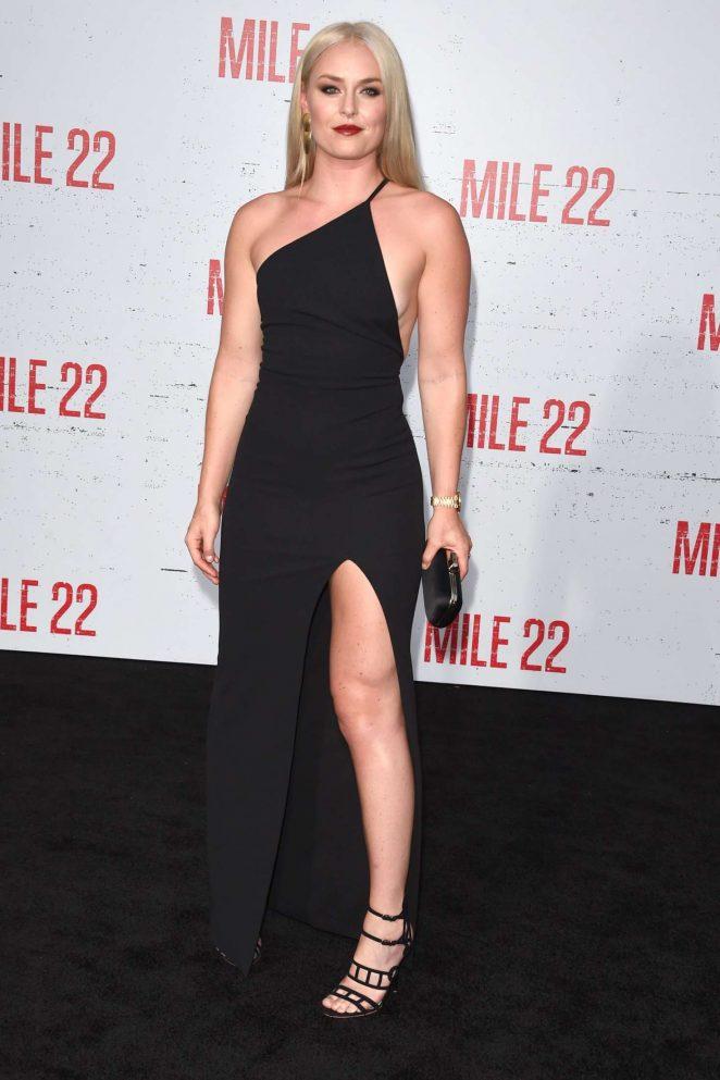 Lindsey Vonn – 'Mile 22' Premiere in Los Angeles