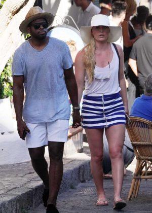 Lindsey Vonn on holiday in Capri