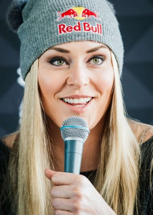 Lindsey Vonn - Press conference ahead of the FIS Ski World Cup Parallel Slalom city event in Stockholm