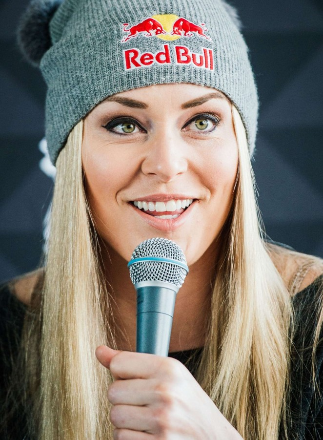 Lindsey Vonn – Press conference ahead of the FIS Ski World Cup Parallel Slalom city event in Stockholm