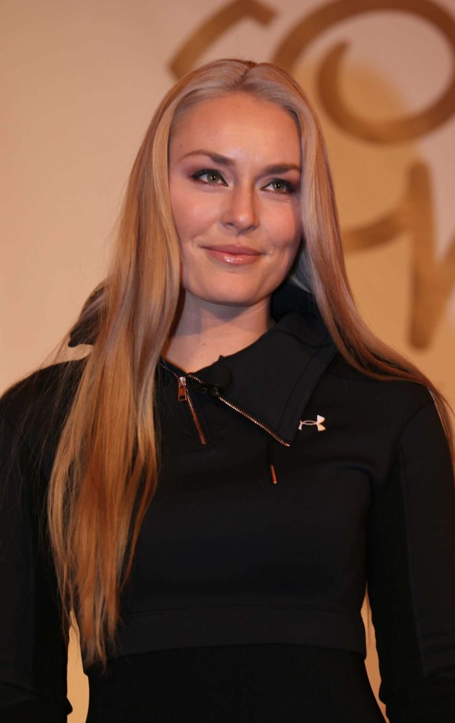 Lindsey Vonn - Press conference alpine skiing FIS World Cup in Canada