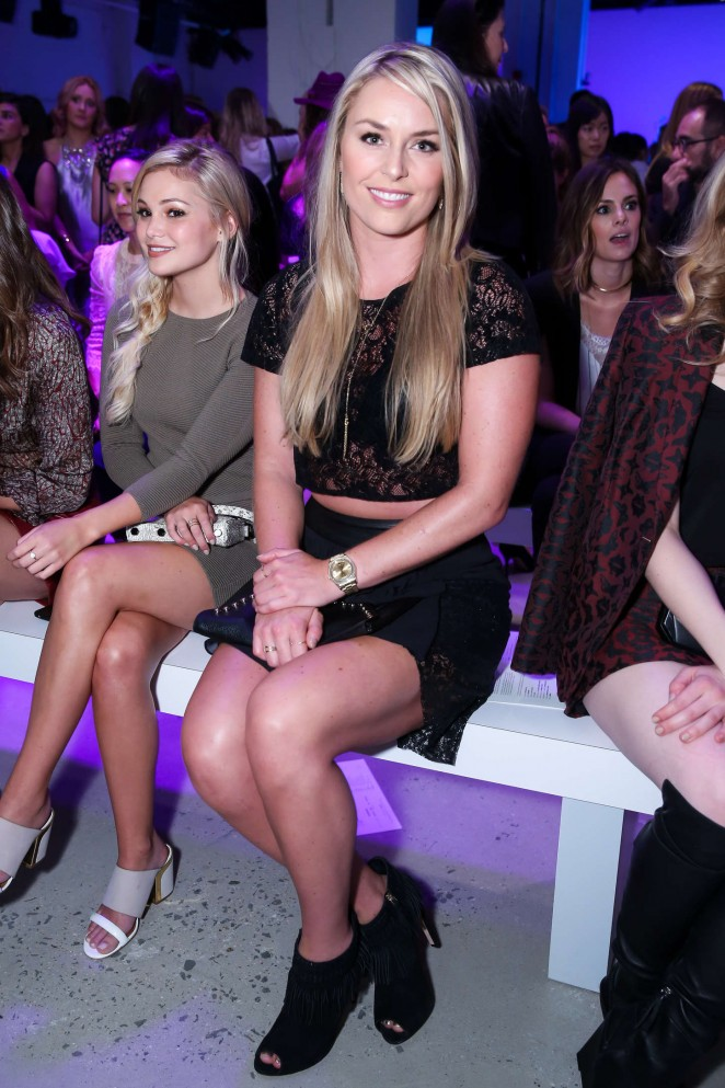 Lindsey Vonn – Rebecca Minkoff Fashion Show at Spring 2016 NYFW in NY