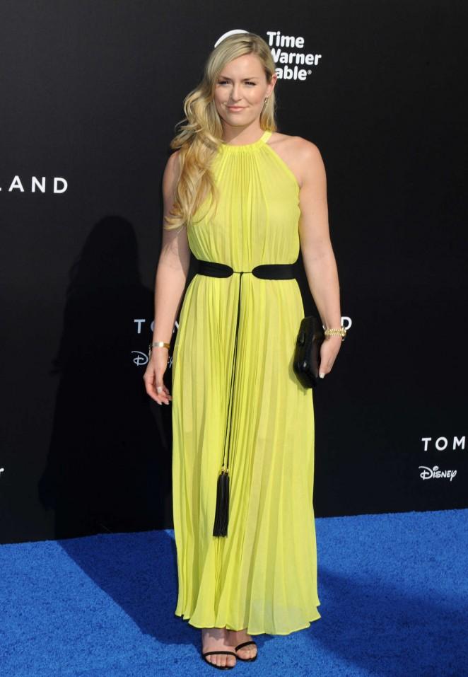 Lindsey Vonn - 'Tomorrowland' Premiere in Anaheim