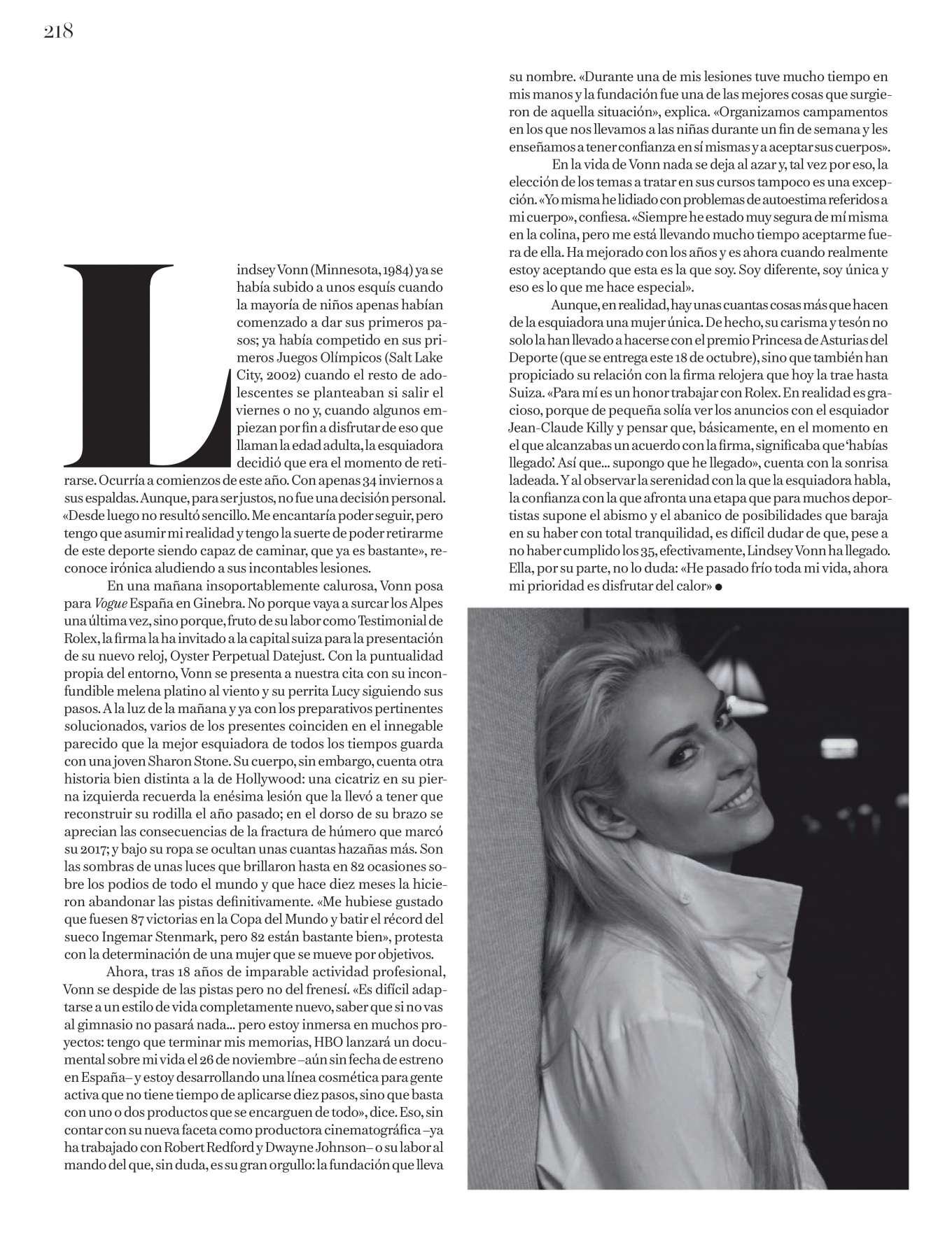 Lindsey Vonn 2019 : Lindsey Vonn – Vogue Espana 2019-02