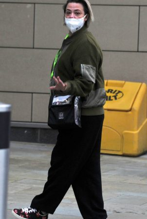 Lisa Armstrong - Seen back at work in Manchester