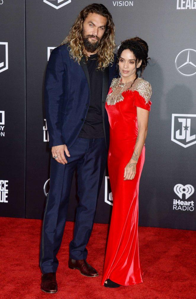 Lisa Bonet and Jason Momoa - 'Justice League' Premiere in LA