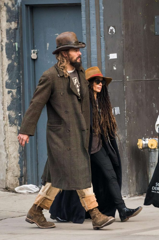 Lisa Bonet and Jason Momoa out in NYC