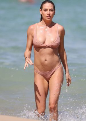 Lisa Clark - Bikini Candids on a beach in Sydney
