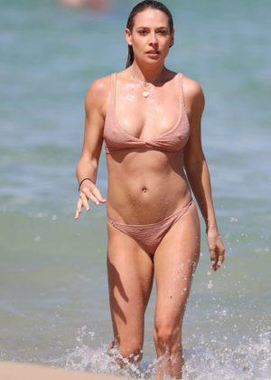 Lisa Clark - Bikini Candids on a beach in Sydney